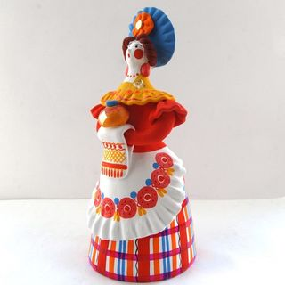 Dymkovo clay toy of the Mistress of a loaf