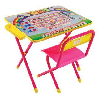 Children's table - CHAIR DEMI, height 2, folding, foam, pink frame,