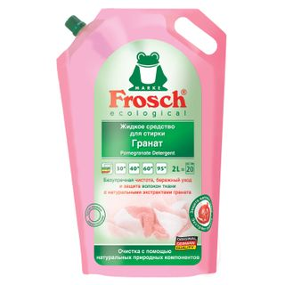 """Liquid detergent liquid universal FROSCH """"Pomegranate"""" (Germany) for all types of fabrics ECO 2 l"""