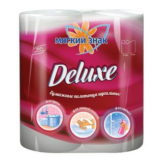 SOFT SIGN / Deluxe white 2-layer household paper towels, soldering 2 pcs. (2x10 m),