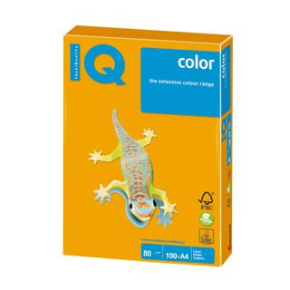 IQ COLOR / A4 paper, 80 g / m2, 100 sheets, moderate-intensity (trend), old gold