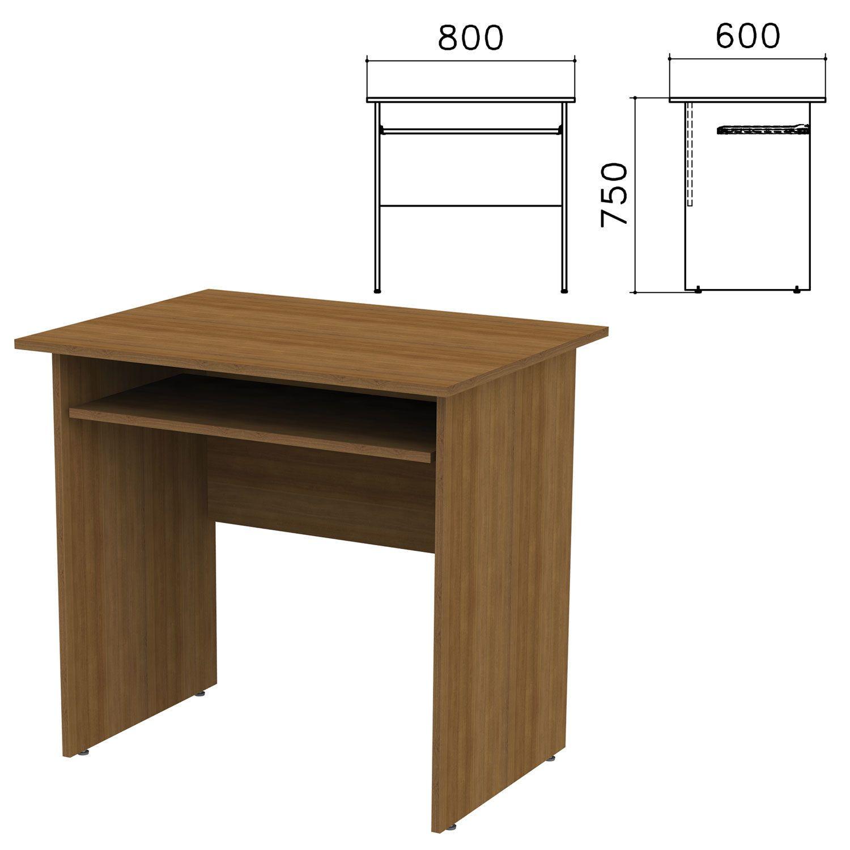 "Table computer ""Kanz,"" 800 x600 x750 mm, walnut color pyramidal"