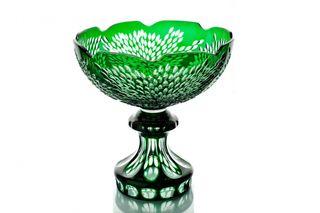 """Crystal vase for fruit """"Celebration"""" green"""