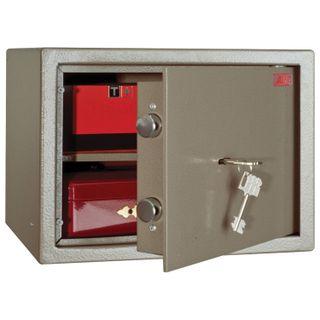 Safe office AIKO TM-25, 250 x340 x280 mm, 10 kg, key lock, shelf