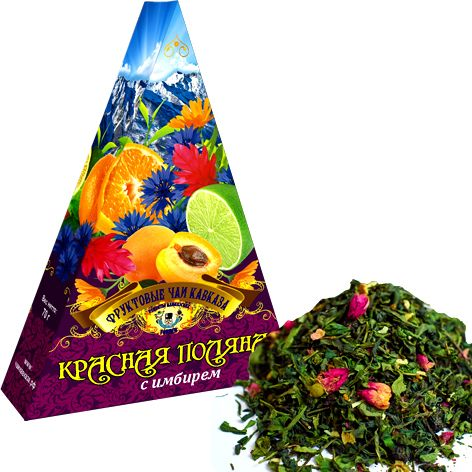 "Fruit teas of Abkhazia / ""Krasnaya Polyana"" with ginger, 70 gr"