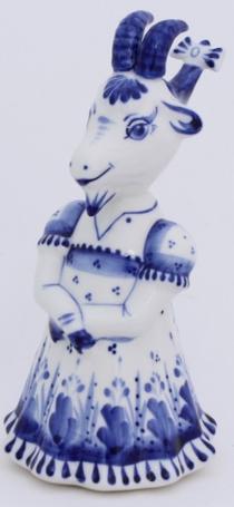'Koza-Krasa' - a statuette in the style of Gzhel