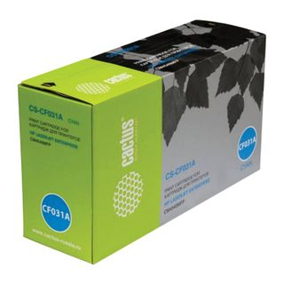 Toner cartridge CACTUS (CS-CF031A) for HP ColorLaserJet CM4540, cyan, yield 12,500 pages.