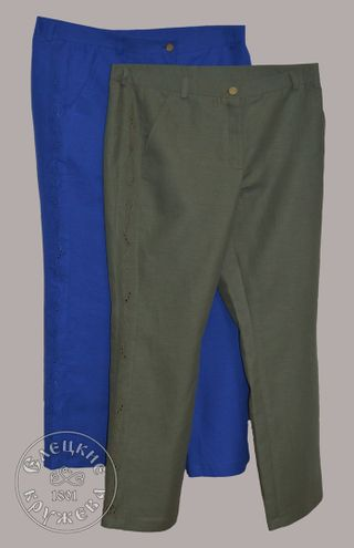 Pants womens linen embroidered С11811