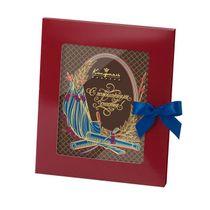 Chocolate greeting card 'wishing you happiness'