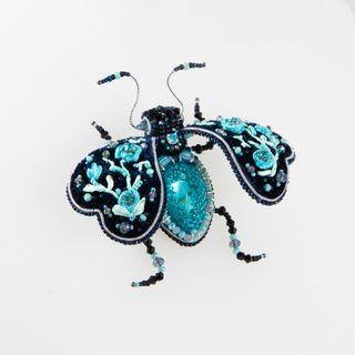 Brooch handmade beetle