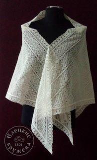 Shawl women's lace С453