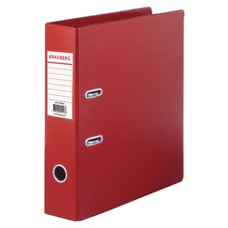 Folder-Registrar BRAUBERG with double-sided PVC coating, 70 mm, red