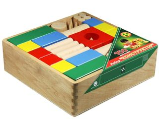 DESIGNER wooden TABLE in a closed container in the thermo - 150 parts color for children from 3 years