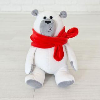"""Soft toy Kidsqo """"Bear Marshmallow"""" 20 cm white"""