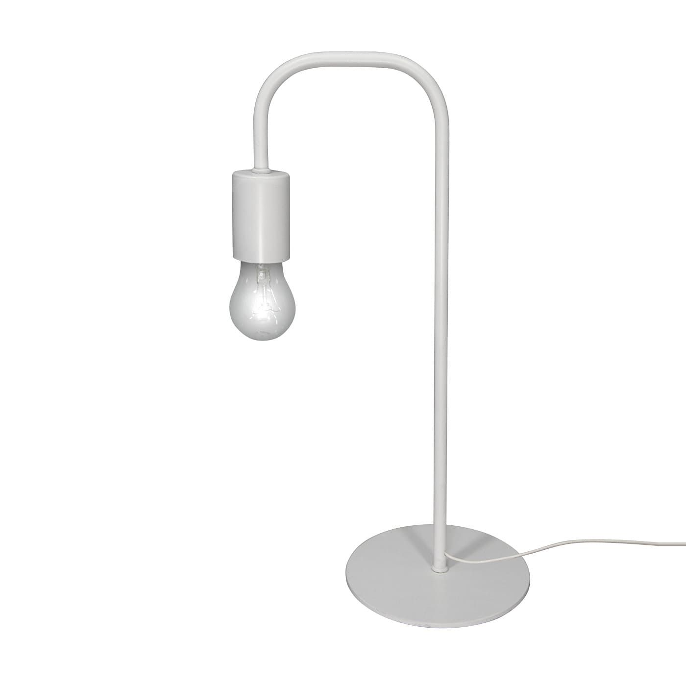 PETRASVET / Table lamp white loft S5081-1, 1xE27 max. 60W