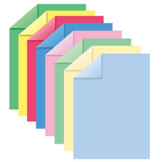 Colored paper A4 TINTED, 8 sheets in 8 colors (4 pastels + 4 intensity), BRAUBERG, 200х290