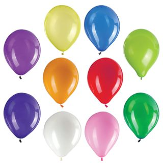 """GOLDEN FAIRY TALE / Balloons 10 """"(25 cm), SET of 50 pieces, assorted 10 colors, package"""