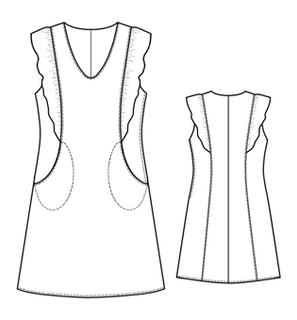 Sundress for girls extended to the bottom