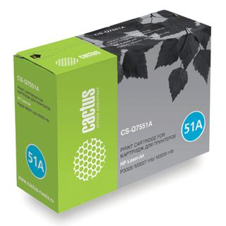 Toner cartridge CACTUS (CS-Q7551A) for HP LaserJet M3035 / 3027 / P3005, yield 6500 pages