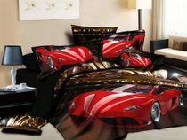 Satin bed linen 3D Ferrari