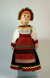Doll gift. 'The villagers,'the girl