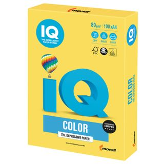 IQ COLOR / A4 paper, 80 g / m2, 100 sheets, intensive, canary yellow
