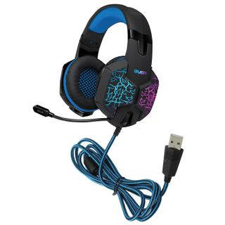 SVEN / Headphones with microphone (headset) AP-U980MV, wired, 2.2 m, 7.1 surround sound, black and blue