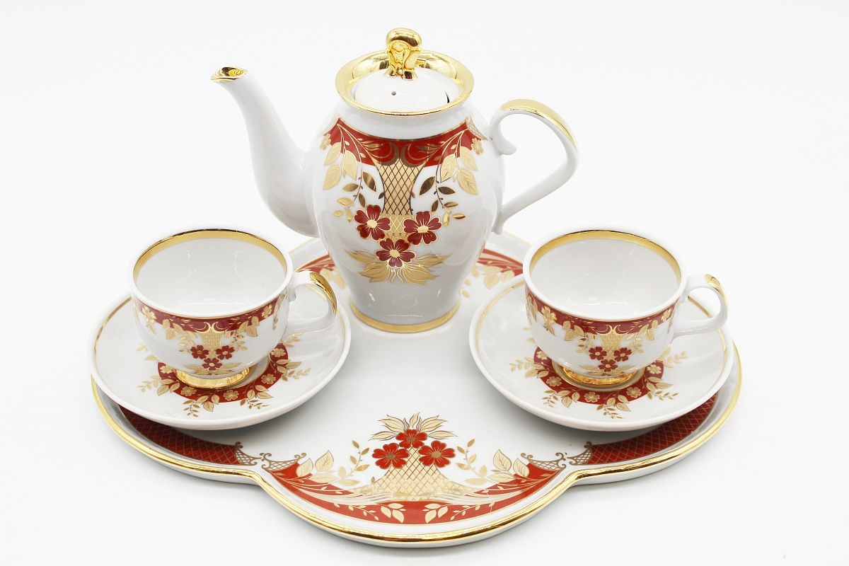 Dulevo porcelain / Coffee set 6 pcs. Lyra Floral