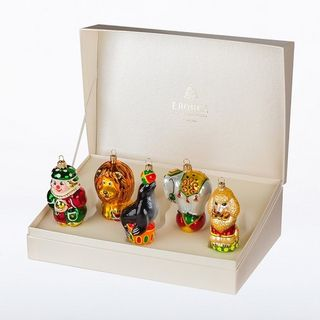 """Set of Christmas tree decorations """"Circus"""" in a gift box"""