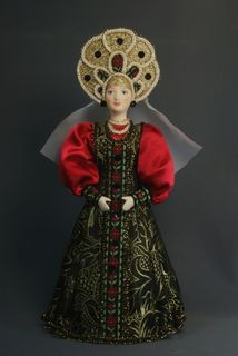 Doll gift. Women's festive costume. Late 19th - early 20th century. Center. Russia.