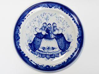Dulevo porcelain / Wall plate RT, diameter 300 mm
