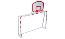 GATES FOR MINI FOOTBALL WITH BASKETBALL SHIELD