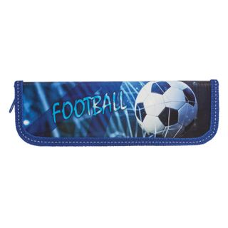 INLANDIA pencil case, 1 compartment, laminated cardboard, 19х7 cm, Football