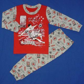 "Pajamas for children interlock print ""Football Player"""
