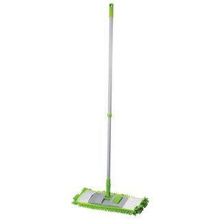 LYUBASHA / Mop with flounder 40 cm, telescopic handle 120 cm, thread 1.6 cm, fleecy microfiber (TYPE K)