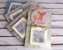 Souvenir 2019 Fridge Magnet with Notebook Pig
