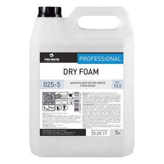 5 litre carpet cleaning and upholstery shampoo, PRO-BRITE DRY FOAM, dry foam, concentrate