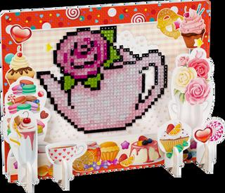 3D puzzle with diamond mosaic: Tea rose