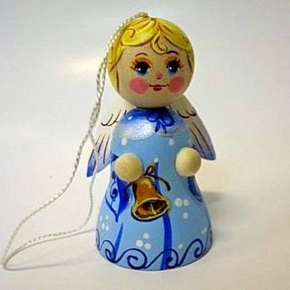 Angel number 1 - wooden souvenir with painting