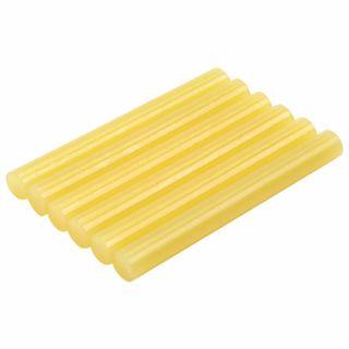 Glue sticks, diameter 11 mm, length 100 mm, yellow, set of 6 pieces, BRAUBERG, euro hanger