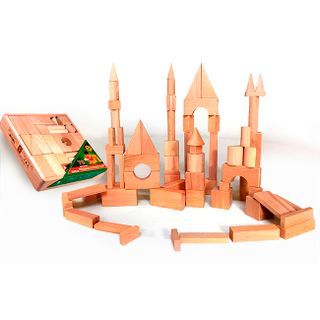 DESIGNER wooden TABLE in the open packaging in the thermo - 70 parts not painted for children from 3 years