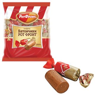 """ROT FRONT / Chocolate sweets """"Bars"""", 250 g, packet"""