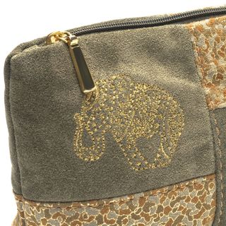 "Suede cosmetic bag ""Oriental motifs"""