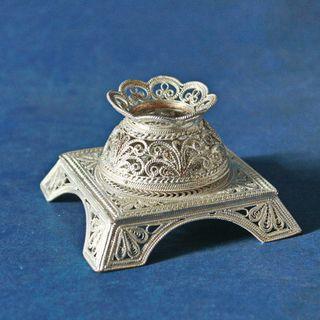 "Kazakov Filigree / Souvenir ""Small inkwell"" silvering"