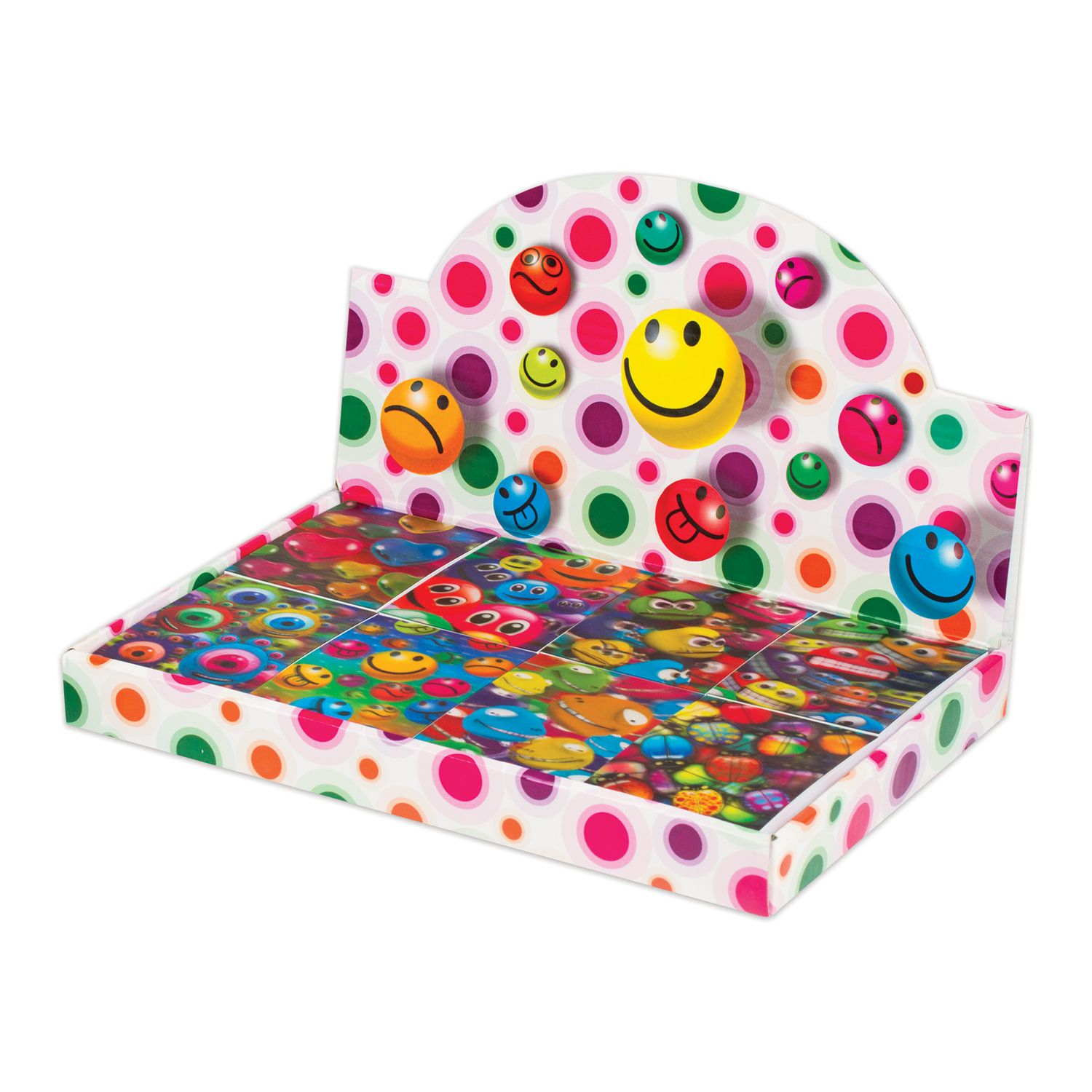 """BRAUBERG / Non-ruled notebook """"Smilies"""" SMALL FORMAT 40 sheets A7, 64x82 mm, gluing, plastic 3D cover, assorted"""