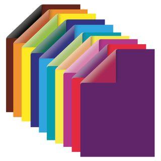 Cardboard colour A4 2-sided COATED, 10 sheets, 20 colors, in a folder, TREASURE ISLAND, 200х290 mm, Fruit
