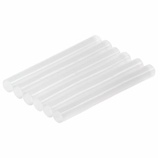 Glue sticks, diameter 11 mm, length 100 mm, transparent, set of 6 pcs., BRAUBERG, euro hanger