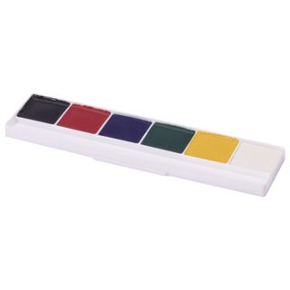 POLIPAX watercolor paint 6 colors, honey, without a brush, cardboard box, Euro slot