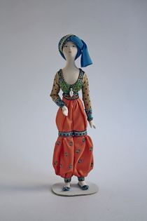 Suit of blue sultans for the ballet 'Shaherezada' Bakst. Doll gift