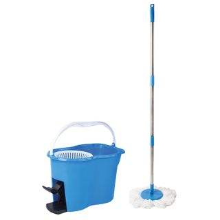 LIMA / Cleaning set, bucket 14 l / 7 l with wringer and pedal, mop with round nozzle (2 pcs., Ring)